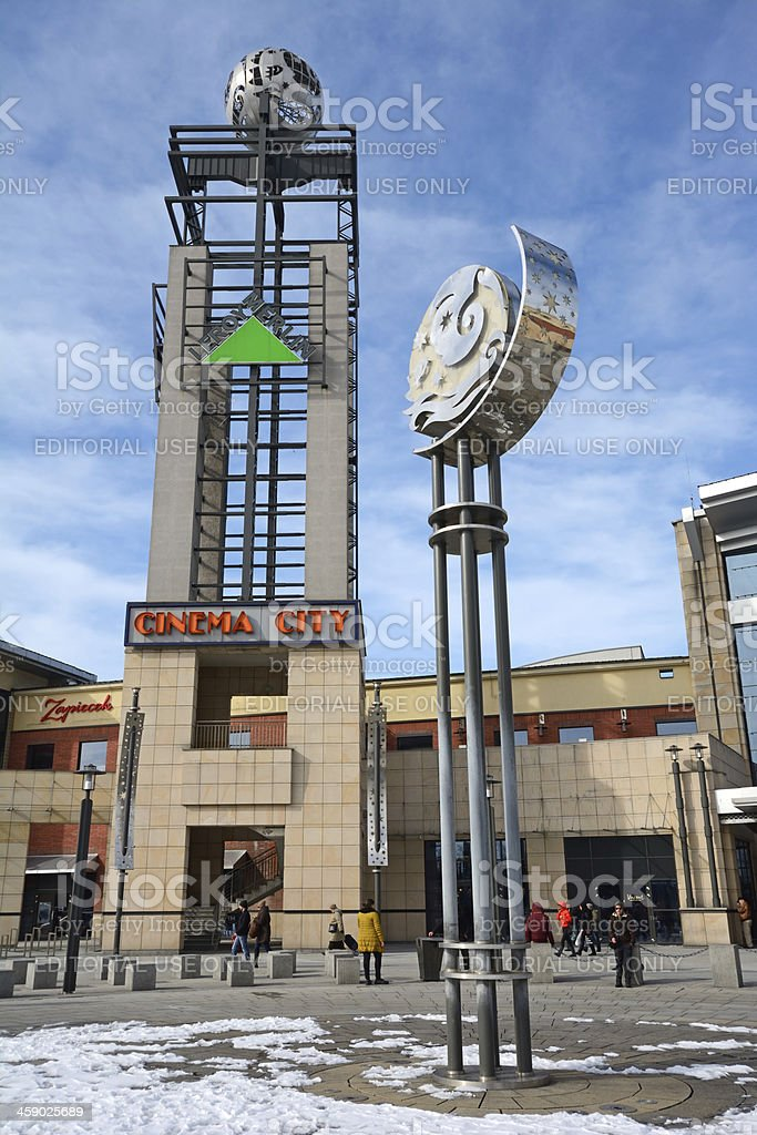 Arkadia Shopping Centre in Warsaw royalty-free stock photo