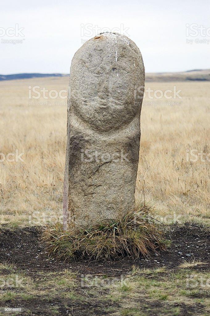 ARKAIM-stone idol stock photo