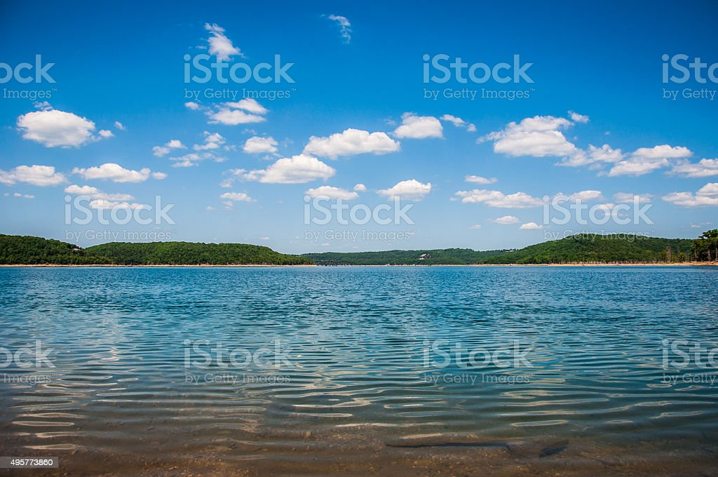 Arkansas Paradise Lake Reflection stock photo