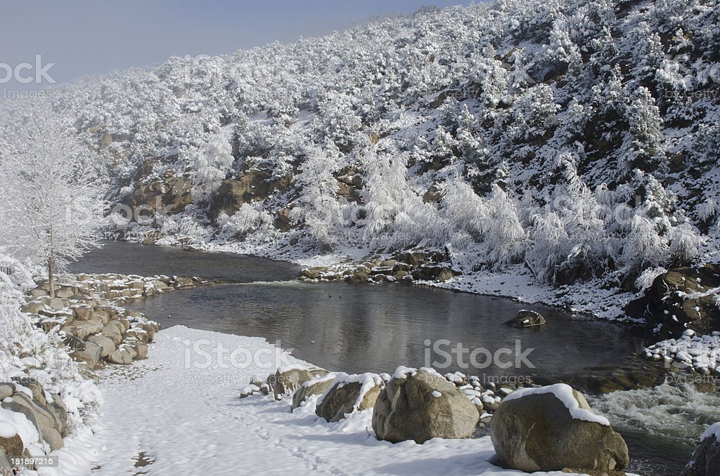 Arkansas River in Snow royalty-free stock photo