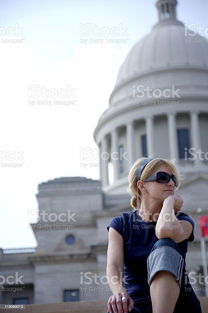Arkansas state capitol - Little Rock stock photo