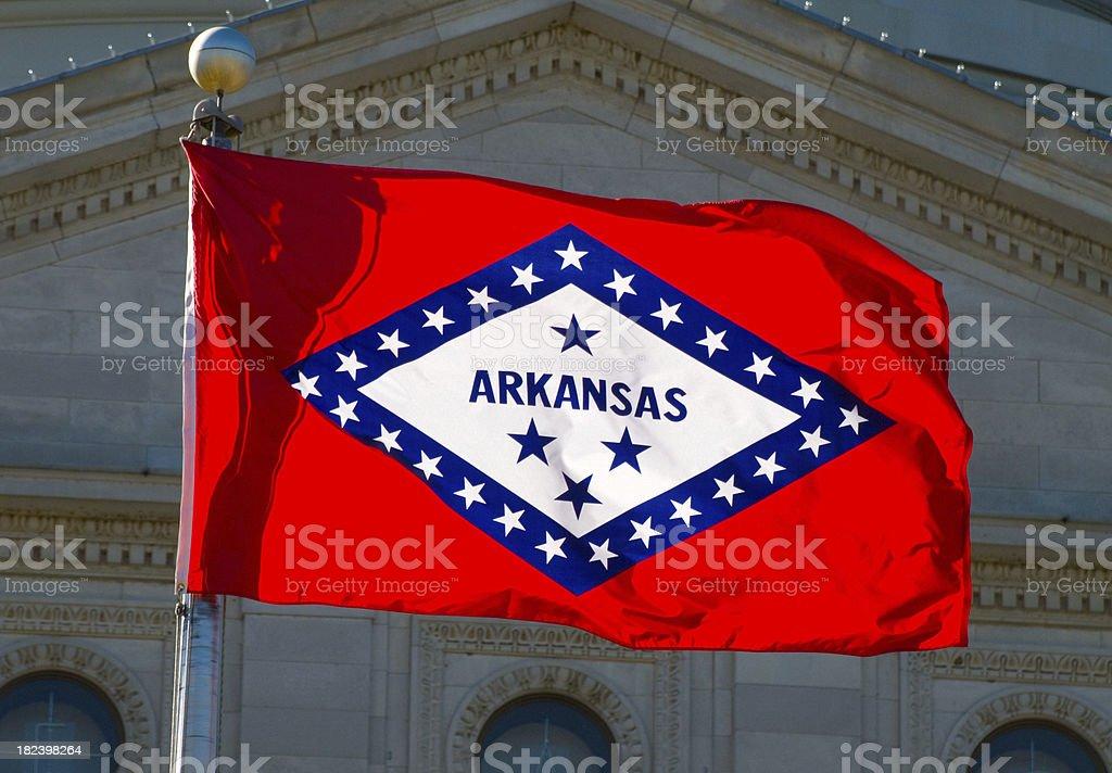 Arkansas State Flag royalty-free stock photo