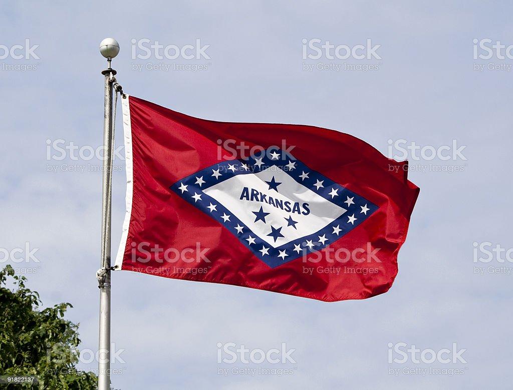 Arkansas State Flag stock photo