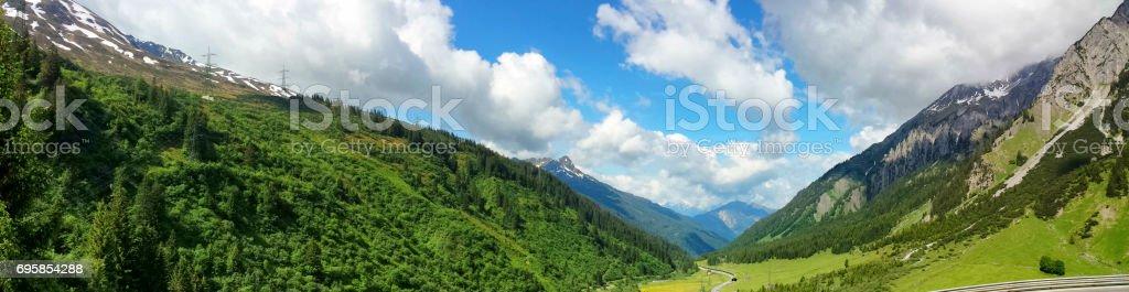 Arlberg pass mountain, Austria stock photo