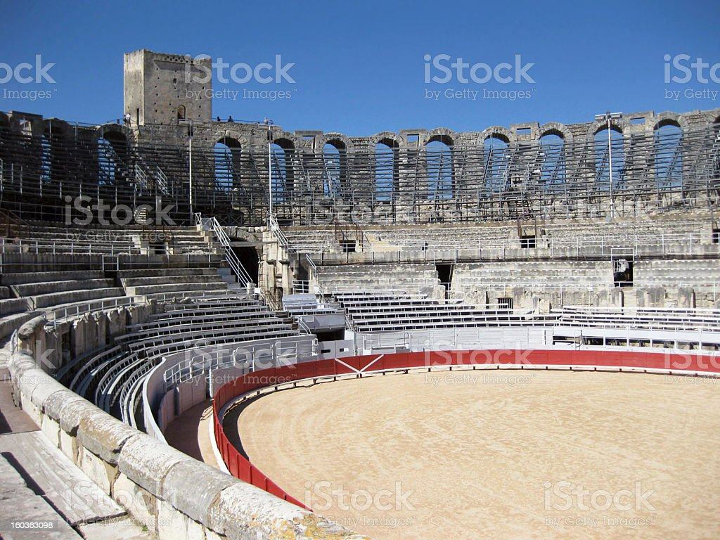 Arles Amphitheater stock photo