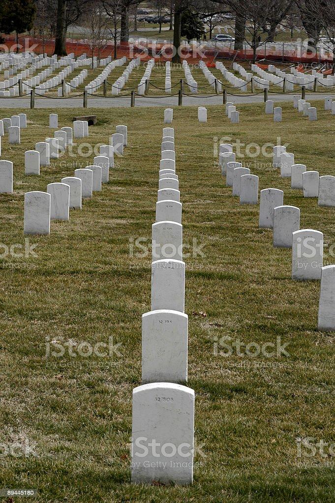 Arlington Cementary Headstones royalty-free stock photo