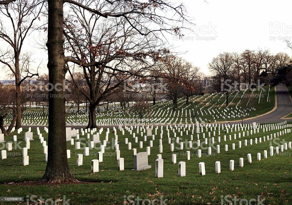 Arlington Cemetery Gravestones Virginia royalty-free stock photo