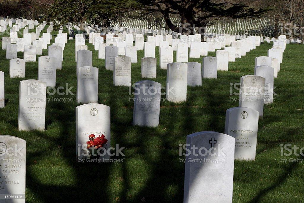 Arlington Cemetery Shadows royalty-free stock photo