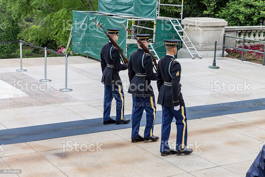 Arlington Cemetery Unknown Soldier stock photo