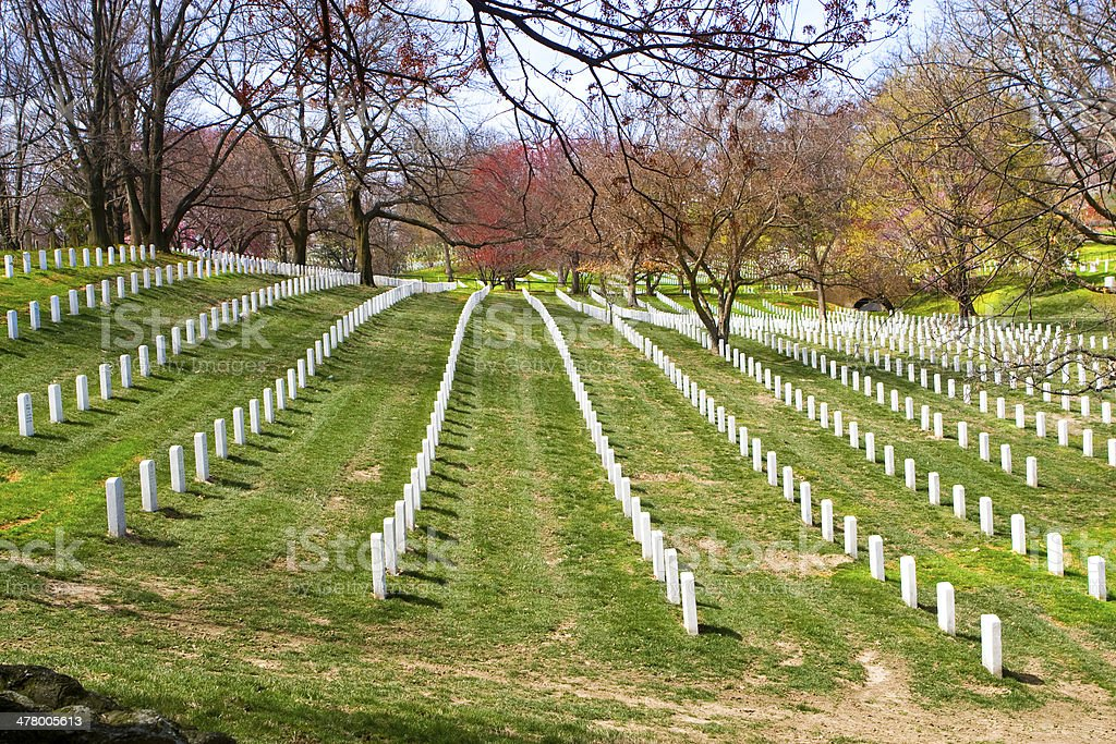 Arlington Cemetery. Washington DC stock photo
