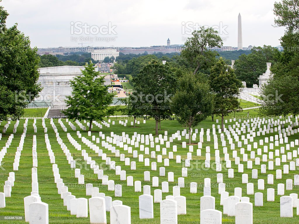 Arlington Cemetry stock photo