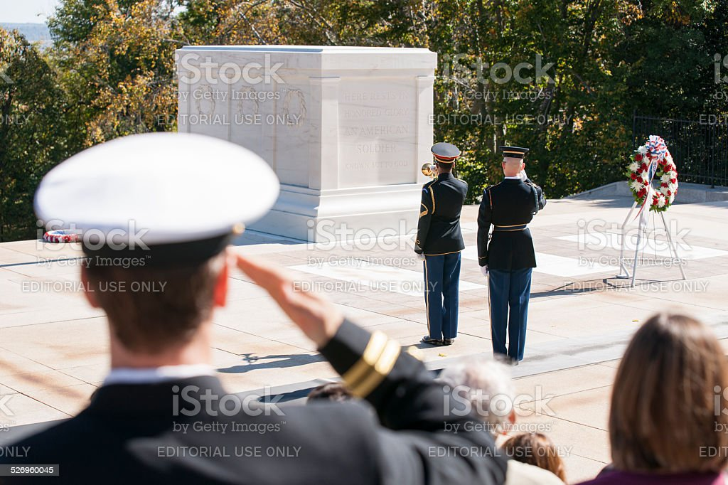 Arlington, Changing of the Guard. stock photo