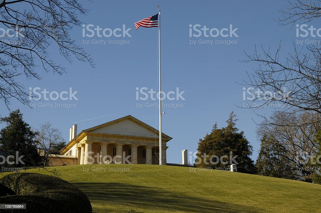 Arlington House At the National Cemertery royalty-free stock photo