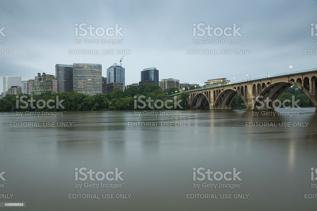 Arlington, Key Bridge and Potomac River - DC, USA royalty-free stock photo