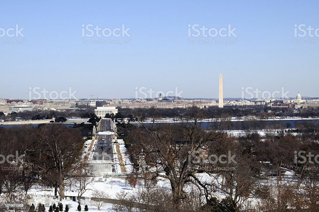 Arlington Memorial Bridge in Washington DC royalty-free stock photo