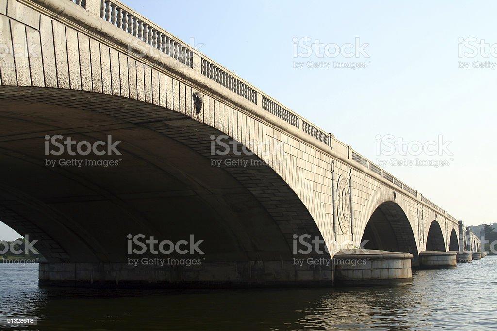 Arlington Memorial Bridge in Washington DC stock photo