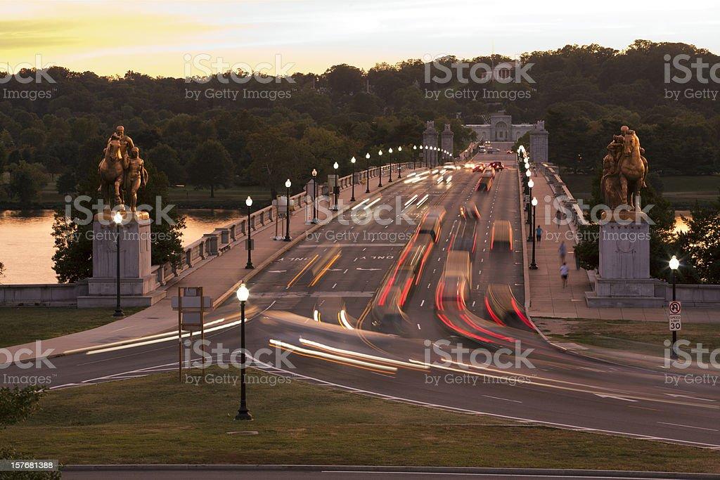 Arlington Memorial Bridge stock photo