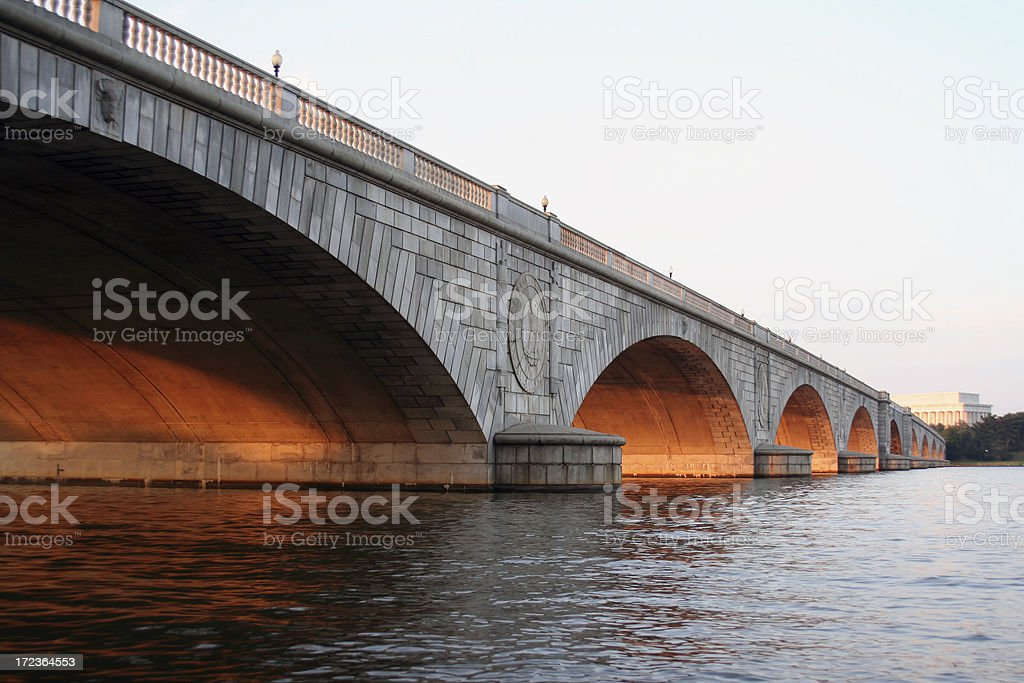Arlington Memorial Bridge, Washington DC stock photo