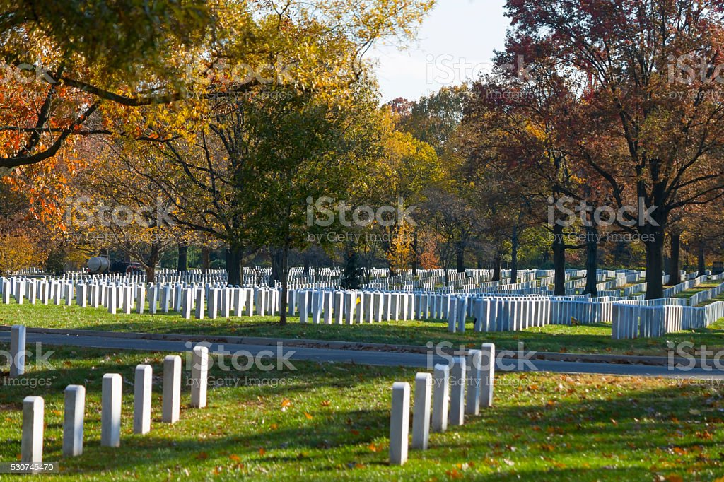 Arlington Memorial Cemetery stock photo