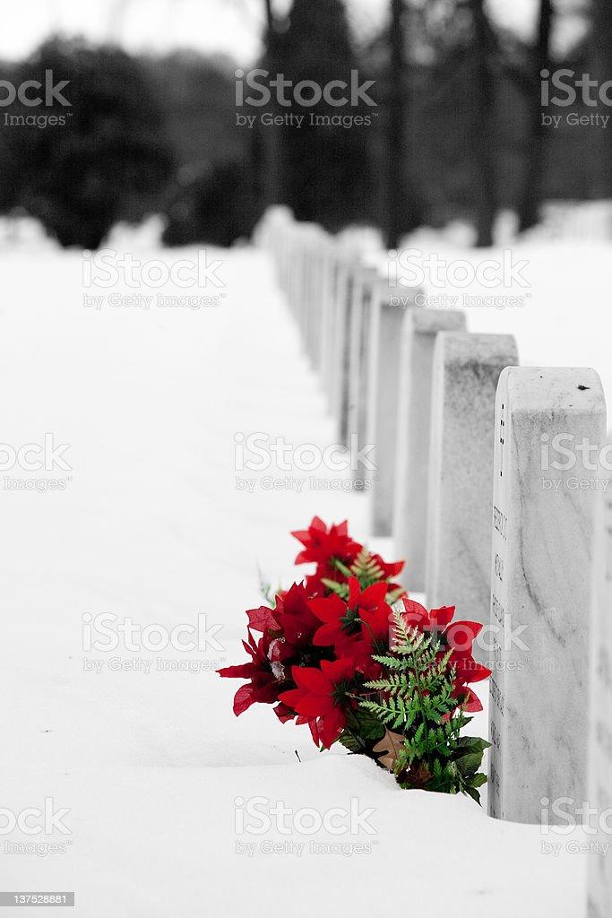 Arlington National Cemetery at Christmas royalty-free stock photo