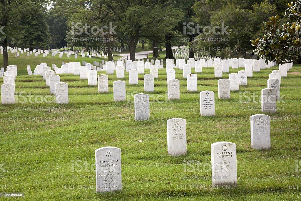 Arlington National Cemetery Graves royalty-free stock photo
