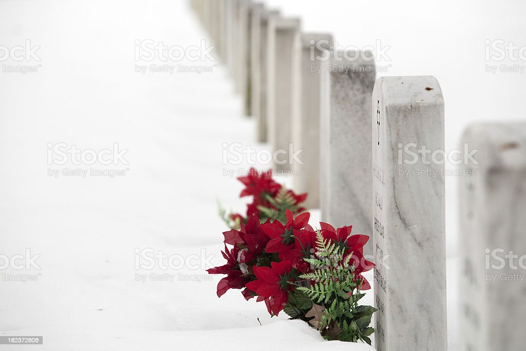 Arlington National Cemetery in December royalty-free stock photo