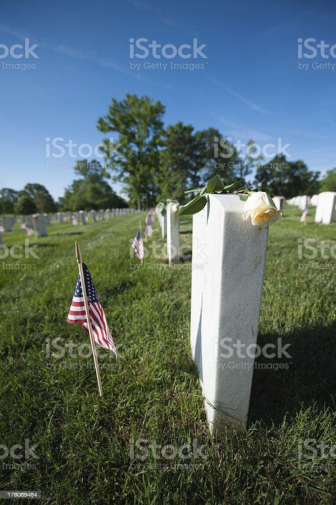 Arlington National Cemetery, Memorial Day royalty-free stock photo