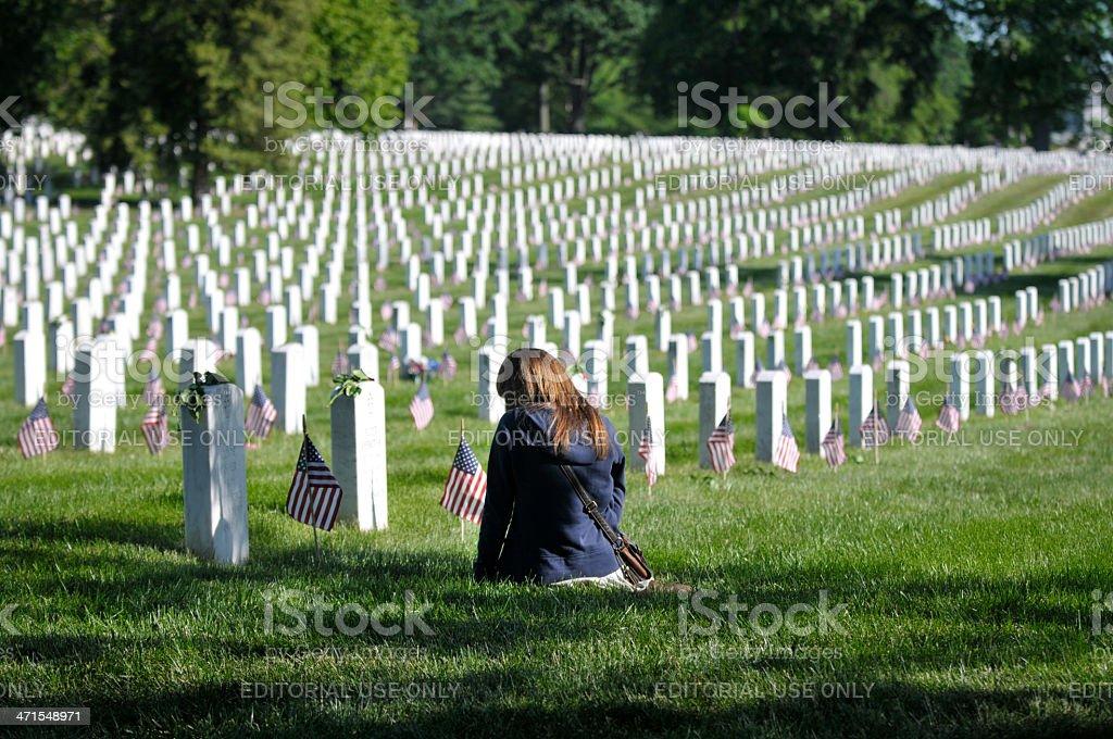 Arlington National Cemetery, Memorial Day stock photo