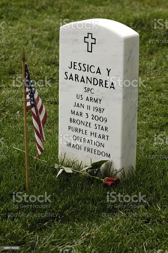 Arlington National Cemetery on Memorial Day royalty-free stock photo