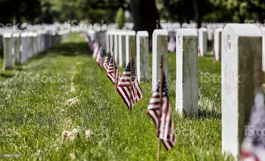 Arlington National Cemetery on Memorial Day stock photo