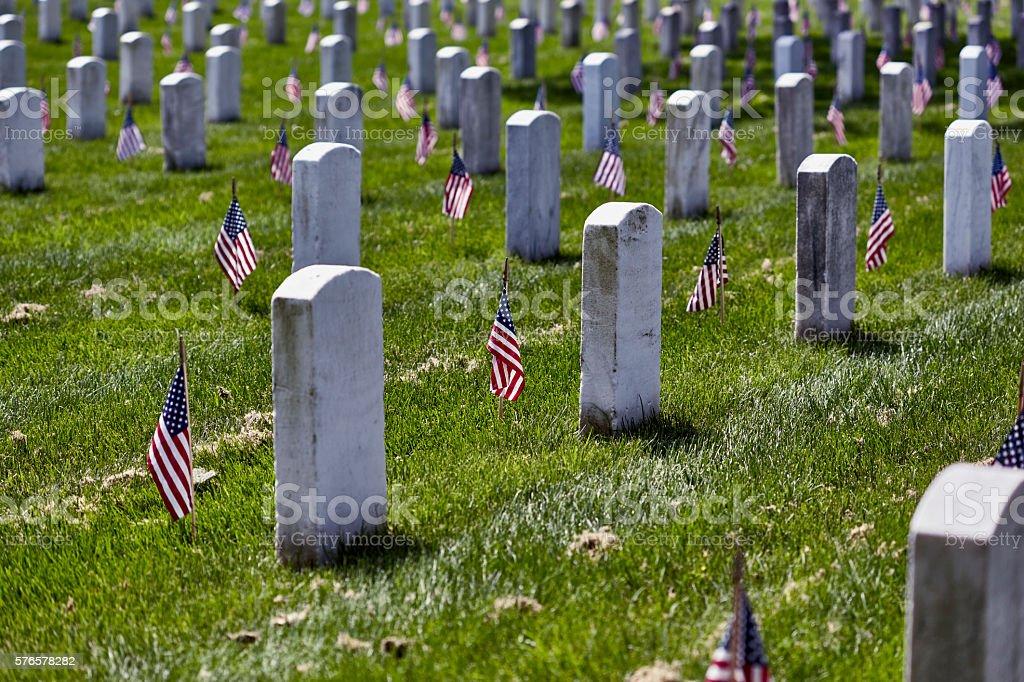 Arlington National Cemetery on Memorial Day stock photo