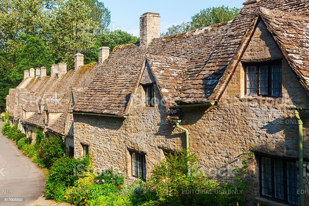 Arlington Row in Bibury, England stock photo