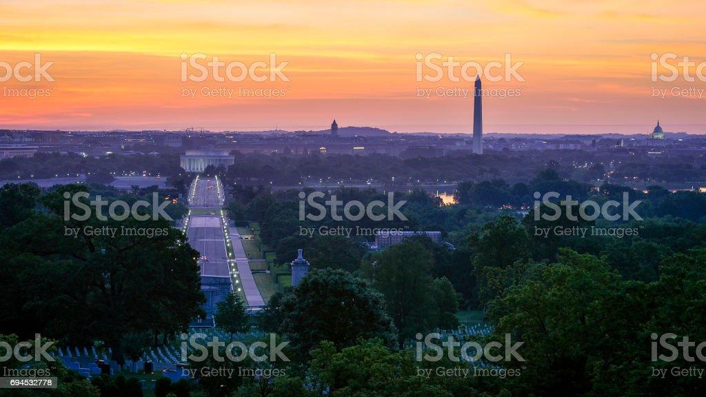 Arlington Sunrise stock photo