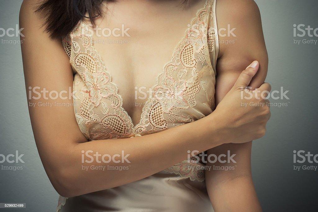 Arm ache stock photo