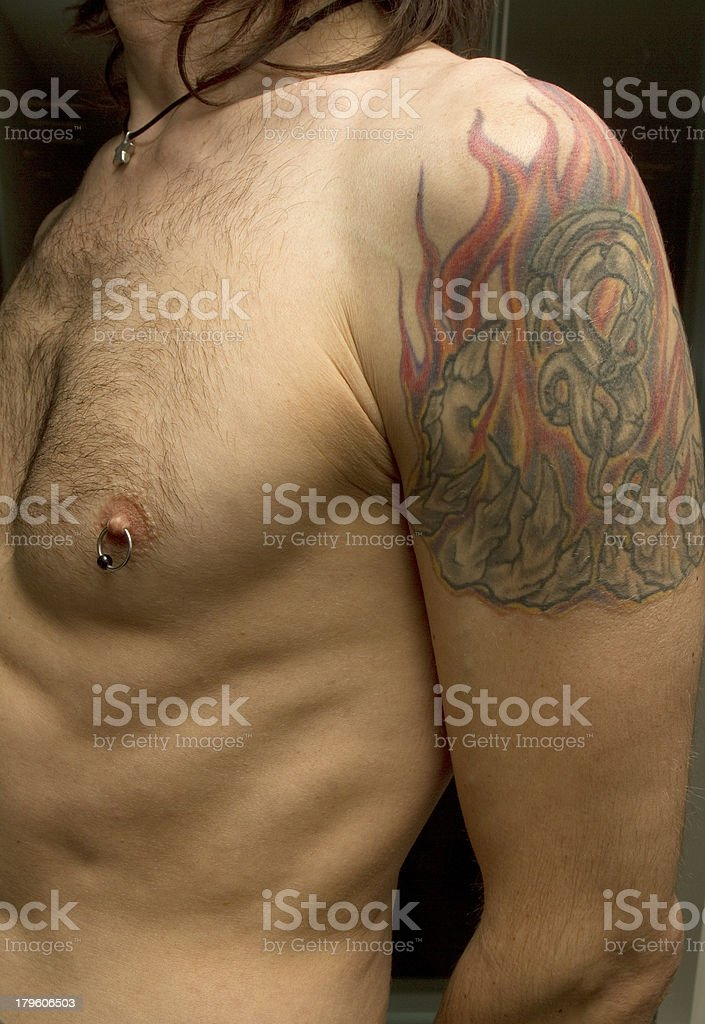 Arm and Chest stock photo