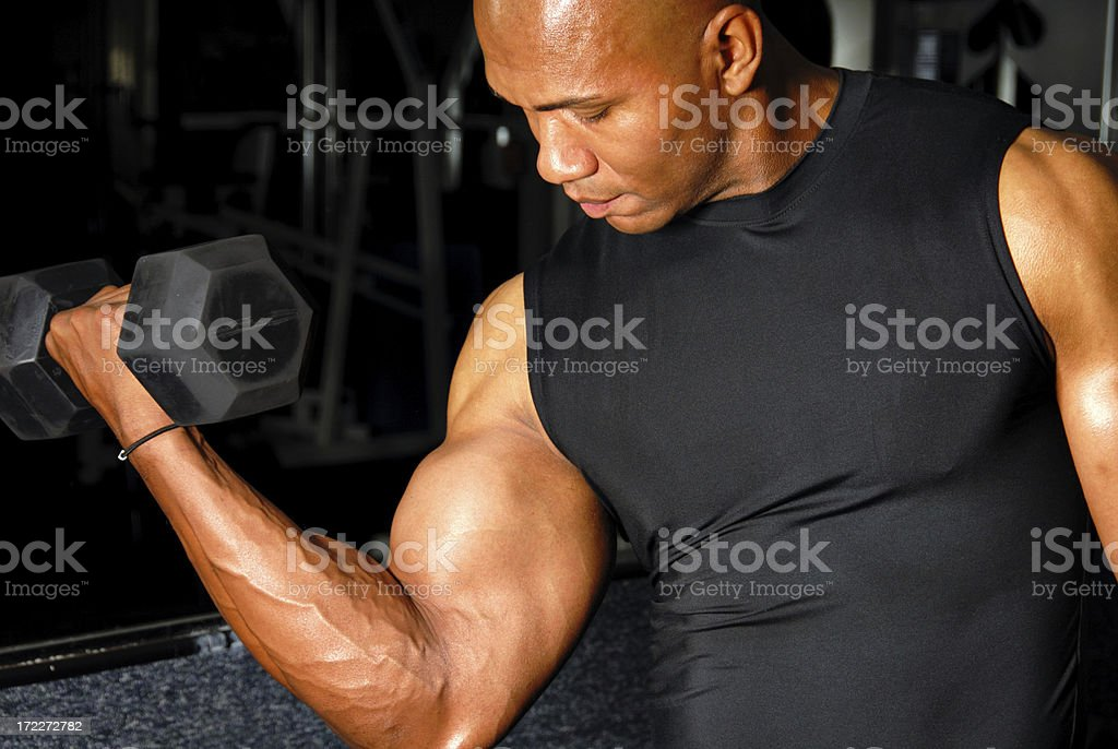 Arm Curl royalty-free stock photo