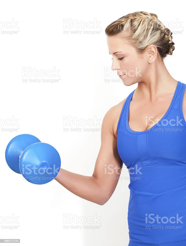 Arm Curls royalty-free stock photo