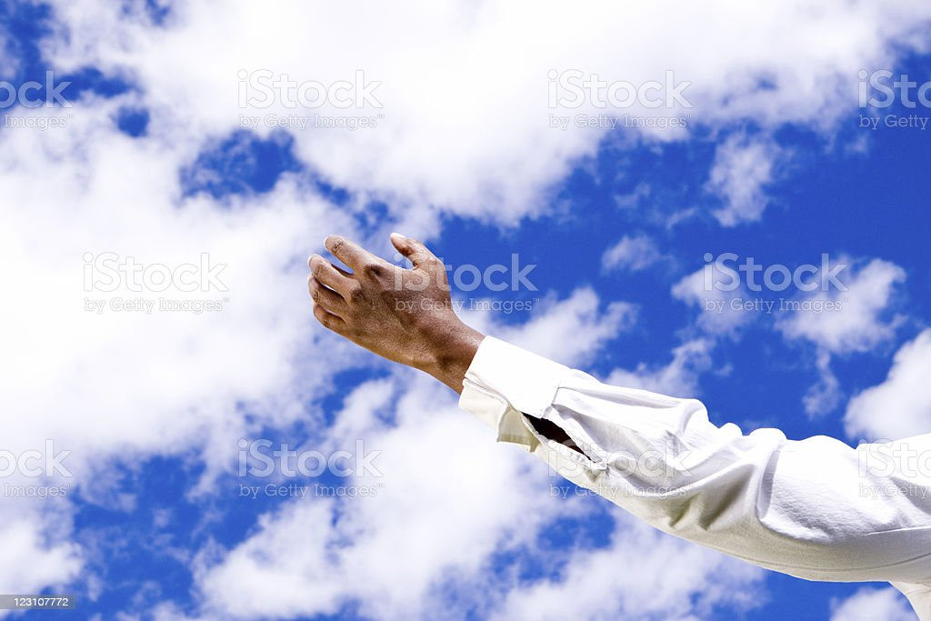 Arm In Clouds royalty-free stock photo