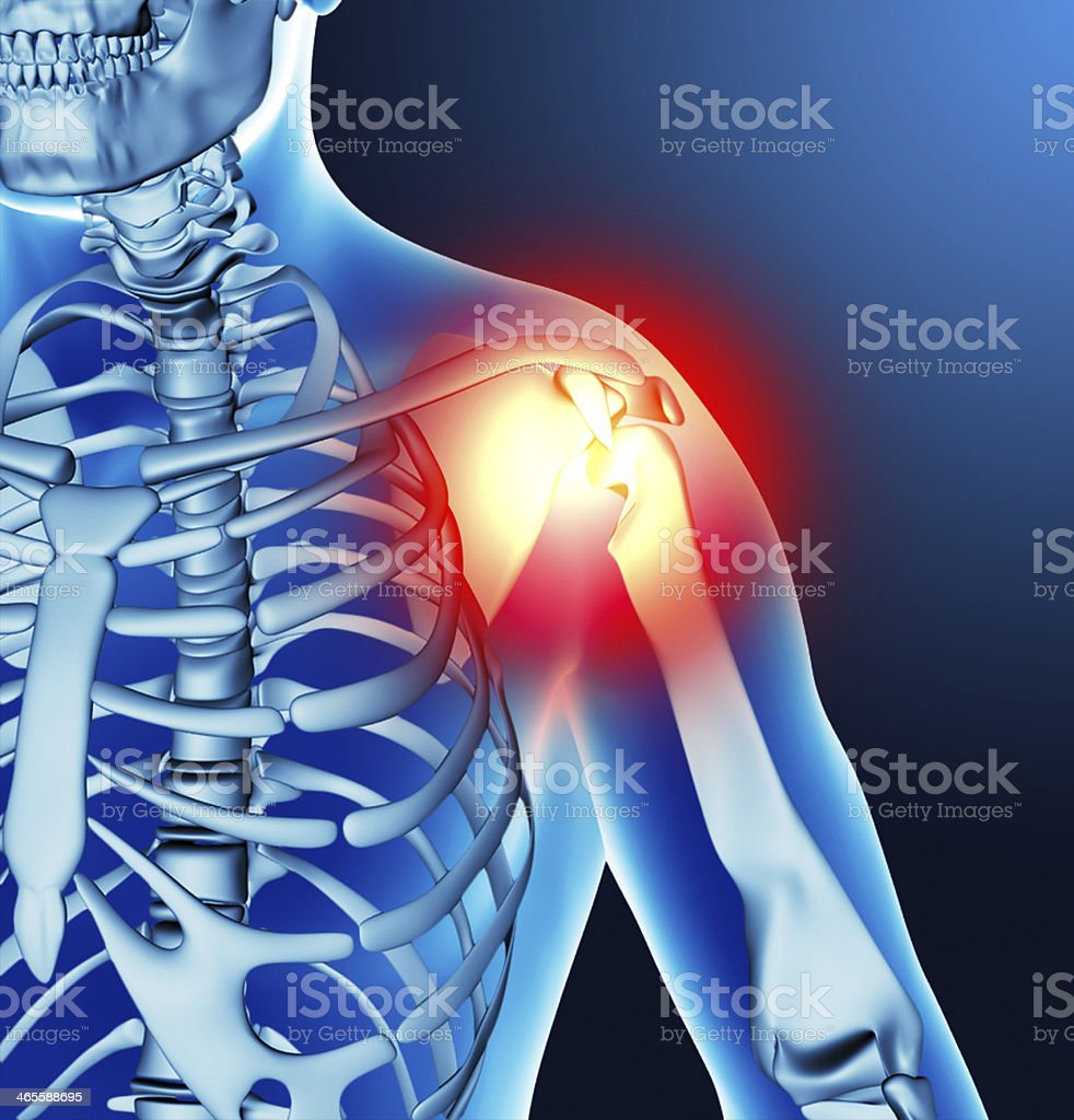 Arm joint stock photo