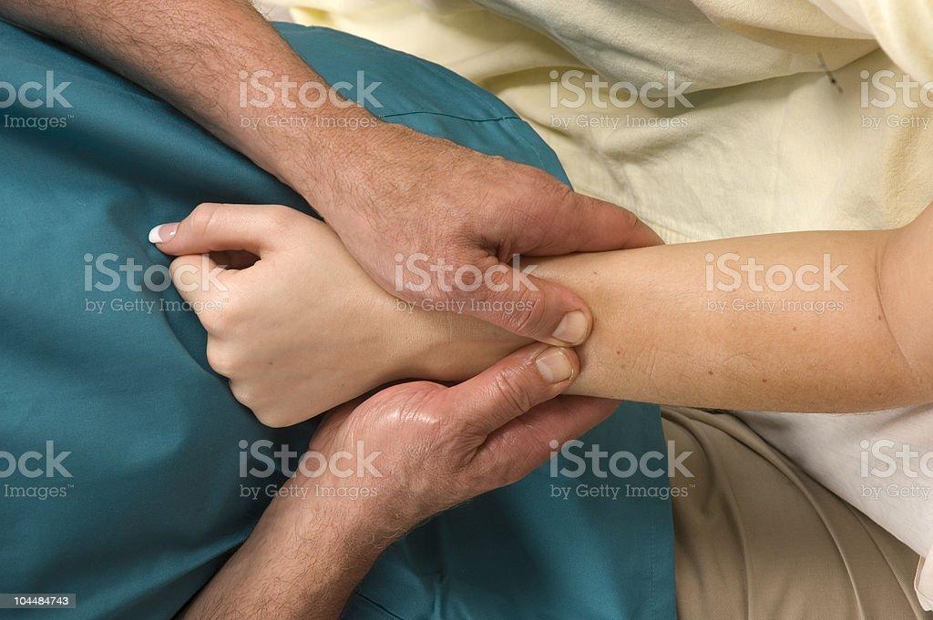 Arm Massage stock photo