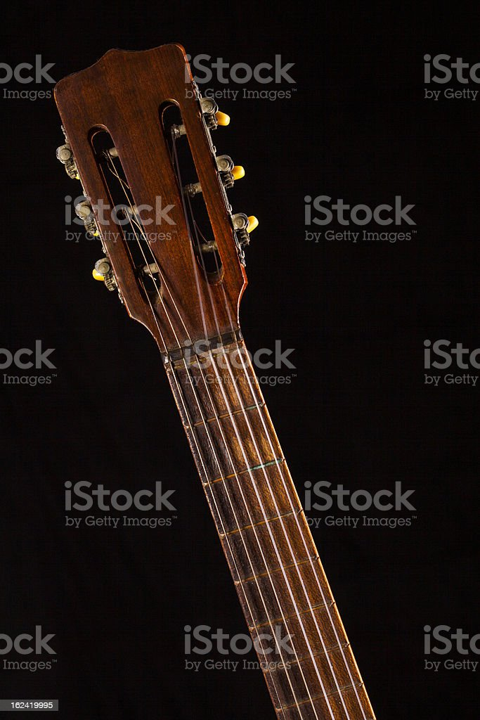 Arm of an Acoustic Guitar royalty-free stock photo