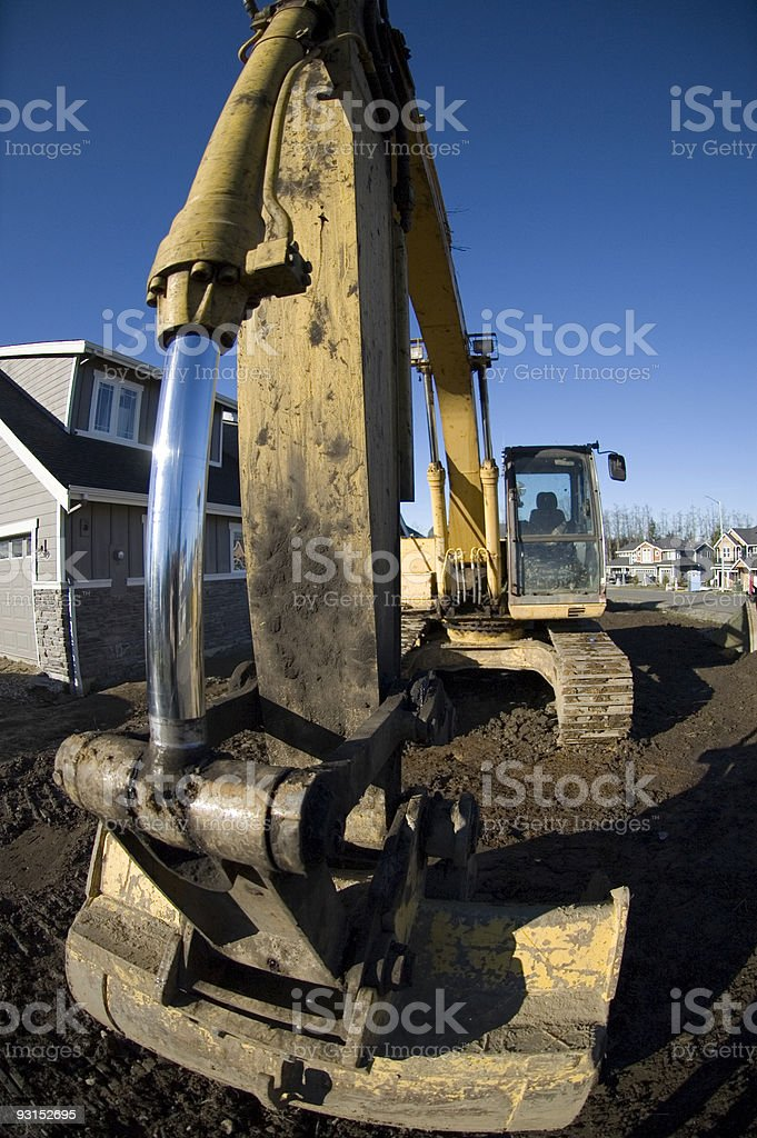 Arm of the Excavator royalty-free stock photo
