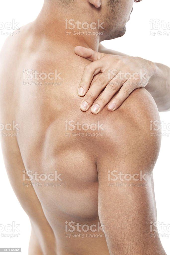 Arm pain royalty-free stock photo