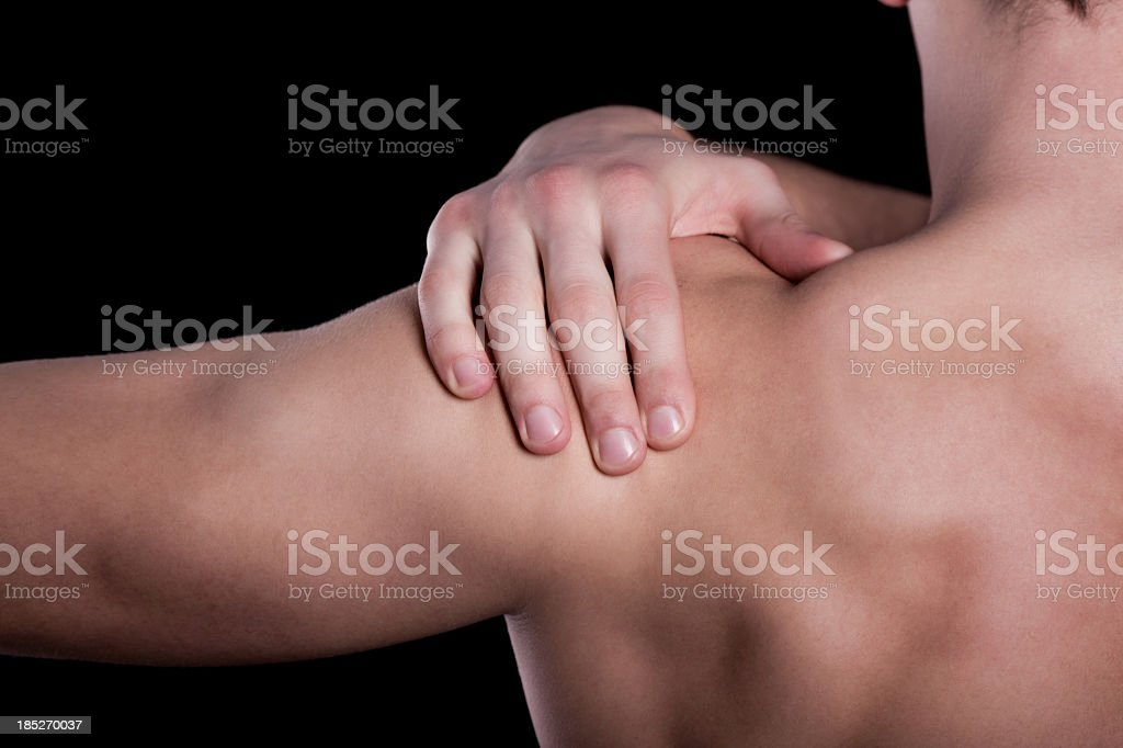 Arm pain stock photo