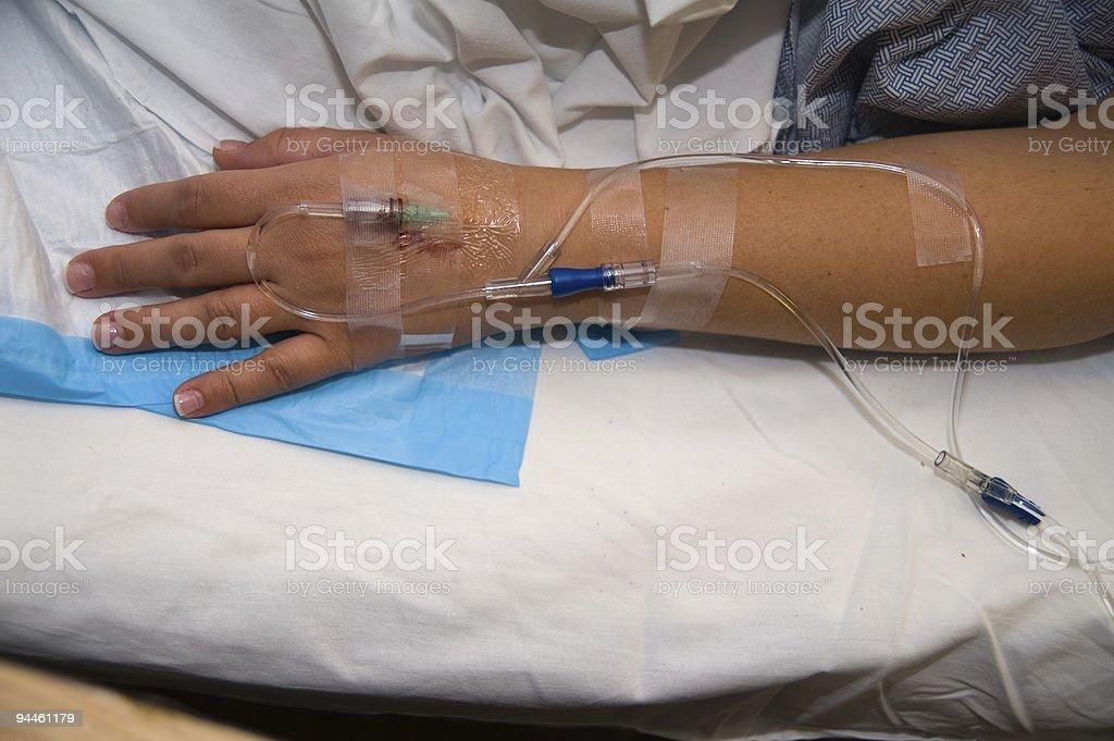 IV Arm royalty-free stock photo