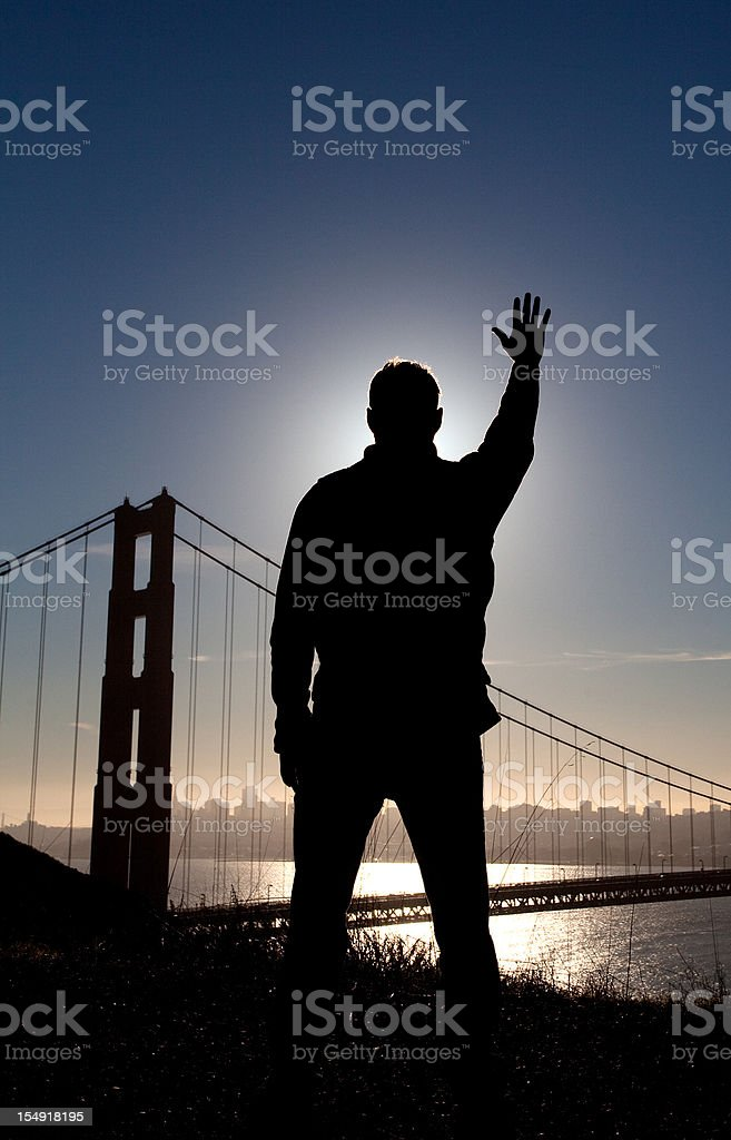 Arm Raised in Worship royalty-free stock photo