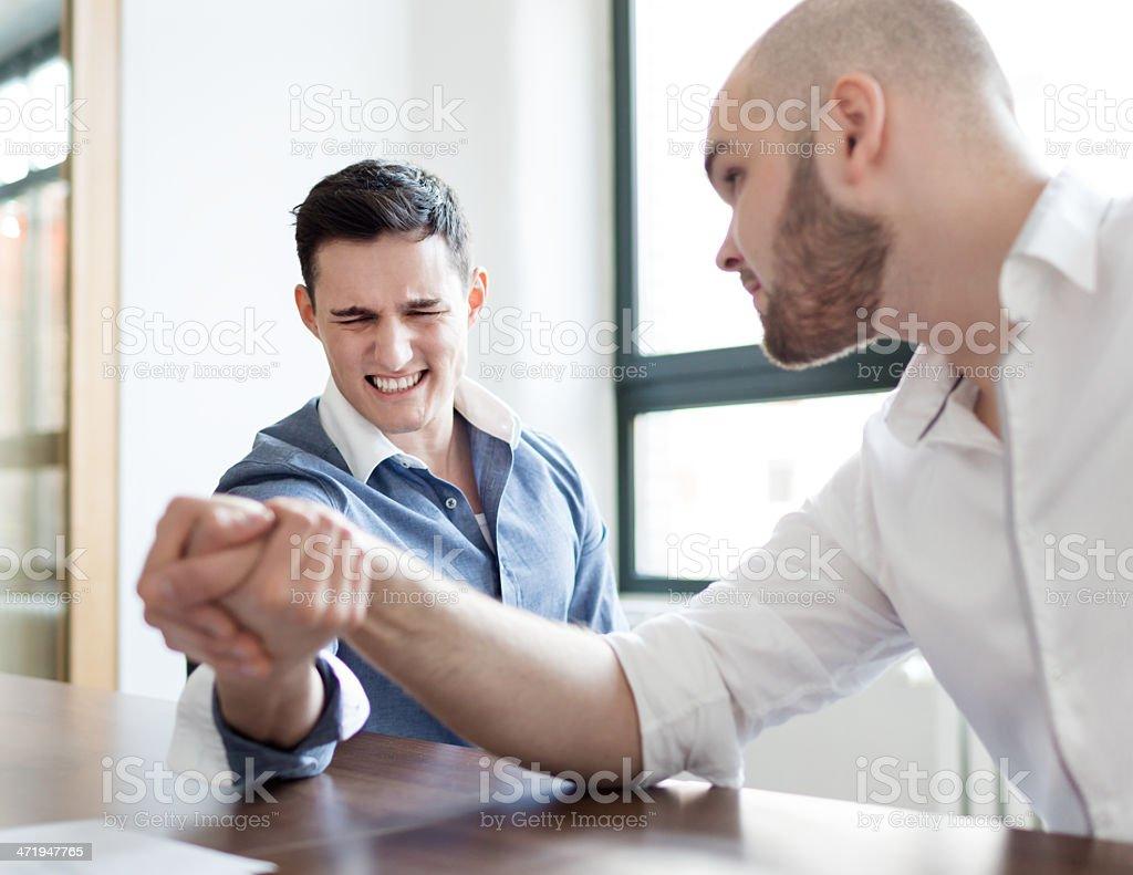 Arm Wrestling Business Men stock photo