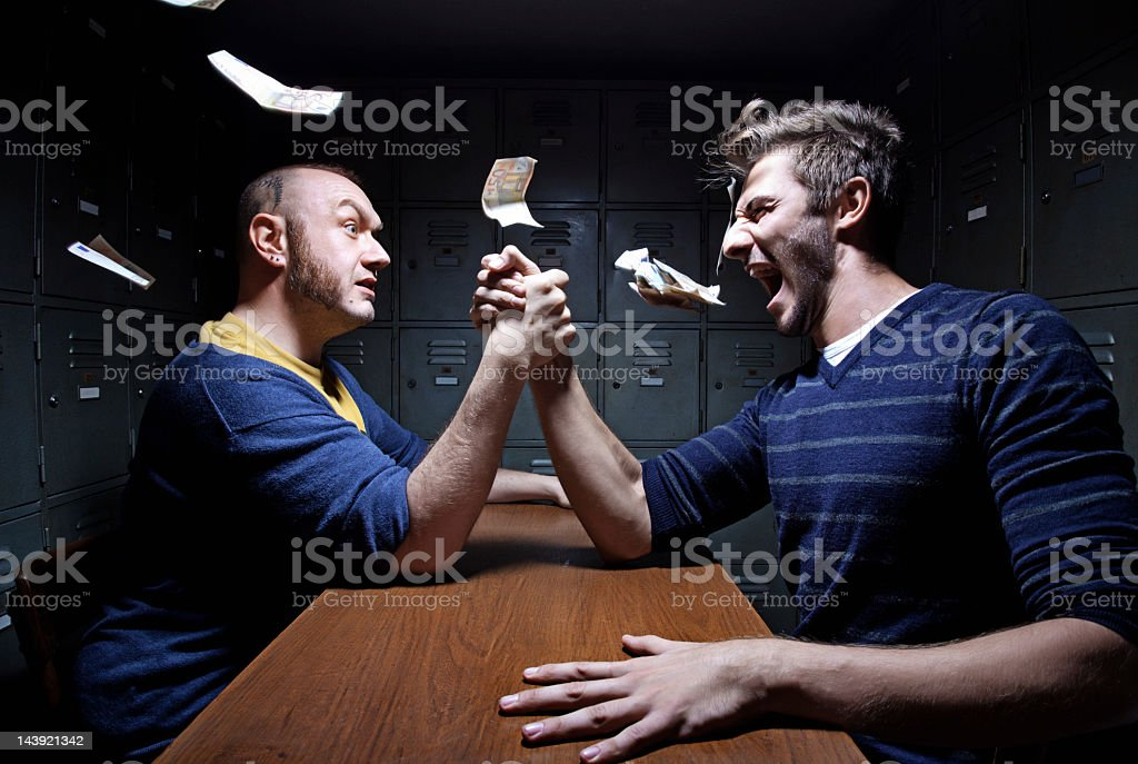 arm wrestling competition stock photo