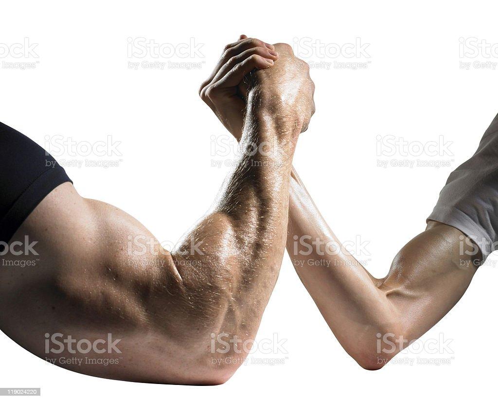 Arm Wrestling royalty-free stock photo