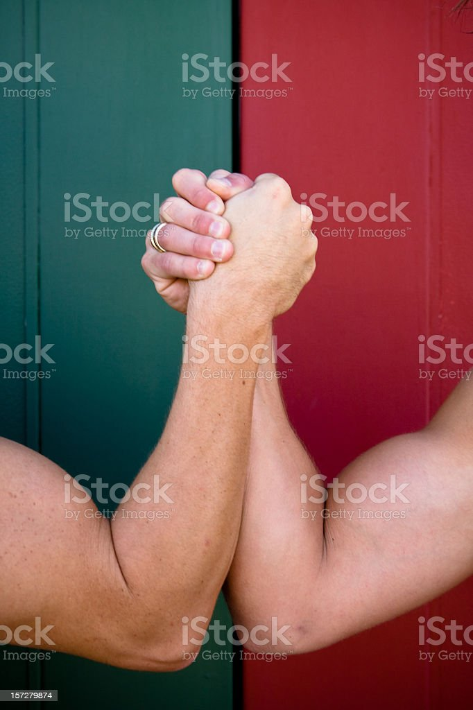 Arm Wrestling royalty-free stock photo
